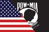 Rumbling Pride Reversible US/POW Flag