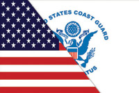 Rumbling Pride Reversible US/Goast Guard Flag