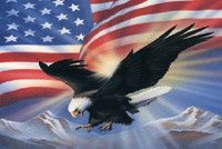Rumbling Pride Eagle America Flag