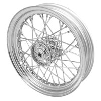 V-Twin Manufacturing Replica 40 Spoke Star Hub Chrome Front/Rear Wheel, 16 x 3.00