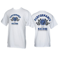 Performance Machine Men's Vintage Race White T-Shirt