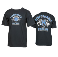 Performance Machine Men's Vintage Race Black T-shirt