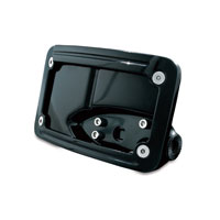Kuryakyn Gloss Black Curved Horizontal Side Mount License Plate Frame
