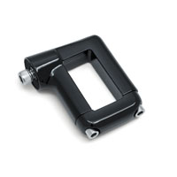 Kuryakyn Gloss Black Side Mount License Plate Clamp for Dyna Models