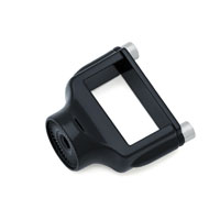 Kuryakyn Gloss Black Side Mount License Plate Clamp