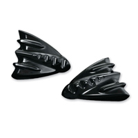 Kuryakyn Black Inner Fairing Mirror Cover Plates