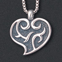 Wildthings Stainless Steel Necklace Heart with 18″ Chain