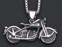 Wildthings Stainless Steel Necklace Rigid Vintage Motorcycle with 20″ Chain