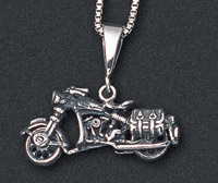 Wildthings Stainless Steel Necklace Early Bagger Motorcycle with 20″ Chain