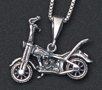 Wildthings Stainless Steel Necklace Springer Motorcycle with 20″ Chain