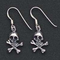 Wildthings Stainless Steel Earrings Skull and Cross Bones