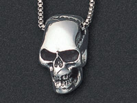 Wildthings Stainless Steel Necklace Skull with 18″ Chain