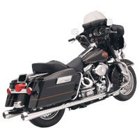 Bassani 4″  Megaphone Chrome Slip-On Muffler Set with 2-1/4″ Baffles