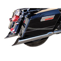 Bassani 4″ Chrome Scallop Slant Cut Slip-On Mufflers