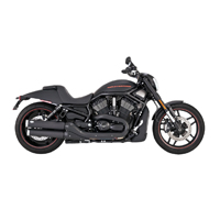 Vance & Hines Widow Slip-Ons Black