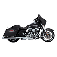 Vance & Hines Monster Rounds Exhaust Slip Ons Chrome