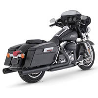 Vance & Hines 4″ Blackout Rounds Mufflers for Touring and FL Trike Models