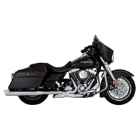 Vance & Hines Monster Oval Slip-Ons Black, Chrome Tips