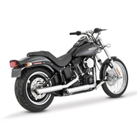 Vance & Hines Twin Slash 3″ Round Slip Ons Chrome