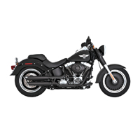 Vance & Hines Twin Slash 3″ Round Slip Ons Black