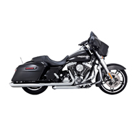 Vance & Hines Twin Slash 4″ Round Slip Ons Chrome
