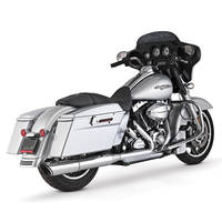 Vance & Hines Twin Slash 2 into 1 Slip On Chrome