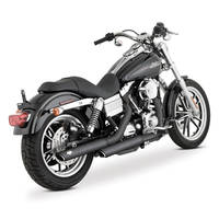 Vance & Hines Twin Slash Round Slip-Ons Black 3″