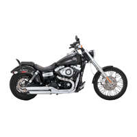 Vance & Hines Twin Slash Round Slip-On Mufflers for Dyna Wide Glide and Fatbob