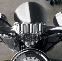 Covingtons Customs Chrome Finned Handlebar Clamp