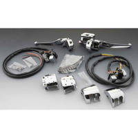 Chrome Smooth-Contour Handlebar Control Kit with Switches