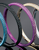 Kuryakyn Knurled Replacement Purple Accent Rings for ISO-Grips