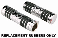 Arlen Ness Replacement Rubber for Diamond Flatband or Rocket Grips