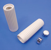 V-Twin Manufacturing Rib Style White Grips