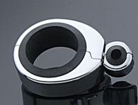 Motion Pro Chrome Cable Clamp for Single Cables