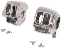 J&P Cycles Chrome Switch Housing Set