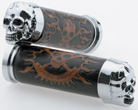 J&P Cycles® Skull Grip Set with Plain Eyes