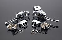 Chrome Smooth-Contour Handlebar Control Kit without Switches