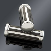 J&P Cycles® Custom Black/Chrome Grip Set for Touring Models