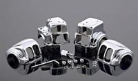 J&P Cycles Chrome Switch Housing Set with Radio
