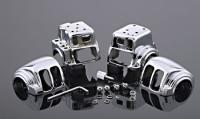 J&P Cycles® Chrome Switch Housing Set