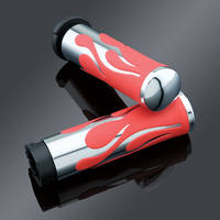J&P Cycles® Red Flame Handlebar Grip Set