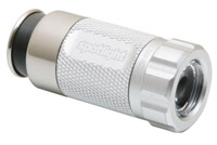 Spotlight-Led Silver Vehicle Socket Rechargeable Flashlight