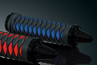 Kuryakyn Black and Blue Iron Braid Grips for Harley With Dual-Cables