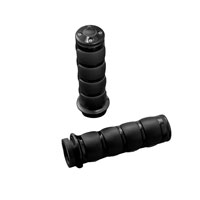 Kuryakyn Black ISO Grips for Models with Dual Cable