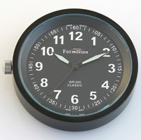 Formotion Classic Series Black Face Clock Snap-Back capable