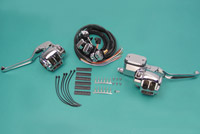 Chrome Handlebar Control Kit for Dual Disc Models