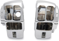 J&P Cycles® Chrome Switch Housing Kits for Touring Models with Radio