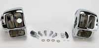 Drag Specialties Chrome Radiused Switch Housing Set
