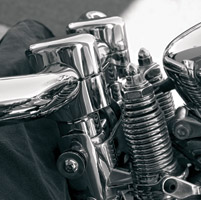 LA Choppers 1-1/4″ Chrome Springer Risers