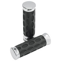 Drag Specialties Custom Chrome and Rubber Grips for Touring Models